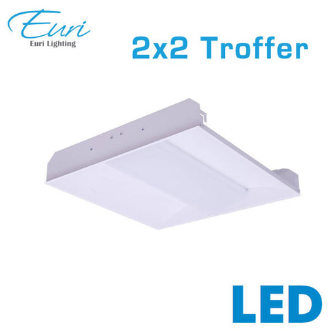 Euri 2x2 LED Recessed Troffer - 34 Watts - 3600 Lumens - 0-10V Dimming - 4000K
