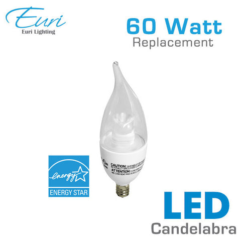 Euri LED Candelabra Bulb - 5.5 Watt - 60 Watt Equal - Dimmable
