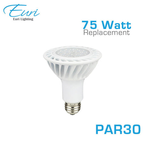Euri LED EP30-1000 - LED PAR30 - 15W - 75 Watt Equal - 3000K - 1150 Lumens - Dimmable