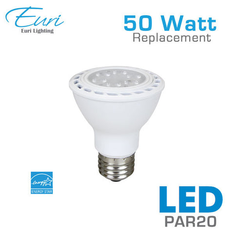 Euri 7 Watt LED PAR20 Spot Light Bulb - 50 Watt Equal - Dimmable