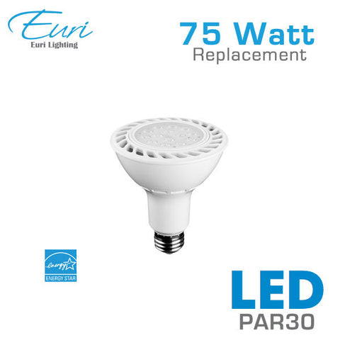 Euri 15 Watt LED PAR30 Spot Light Bulb - 75 Watt Equal - Dimmable