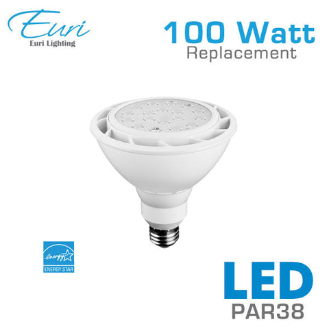 Euri 18 Watt LED PAR38 Spot Light Bulb - 100 Watt Equal - Dimmable