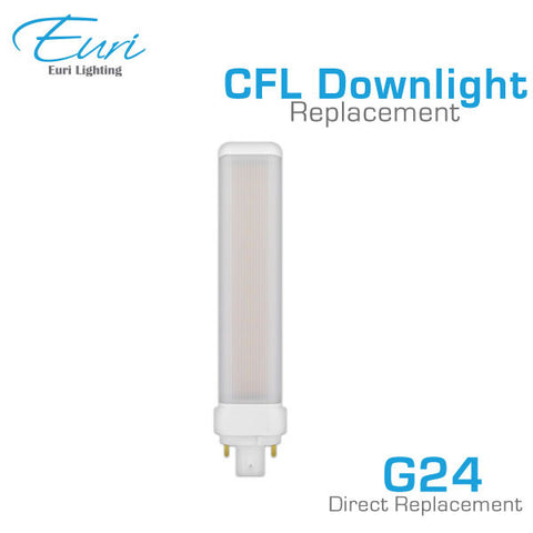 Euri - EBG24-1100 - LED G24q-3 CFL Downlight Retrofit Bulb - 12 Watt - 1100 Lumen - Ballast Compatible