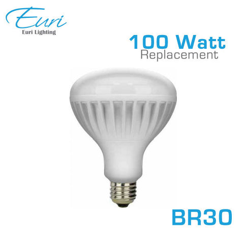 Euri ER30-1000 - LED BR30 Flood light - 13W - 100 Watt Equal - 3000K - 1000 Lumens - Dimmable
