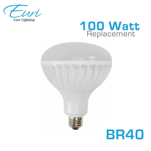 Euri ER40-1000 - LED BR40 Flood light - 18.5W - 100 Watt Equal - 3000K - 1440 Lumens - Dimmable