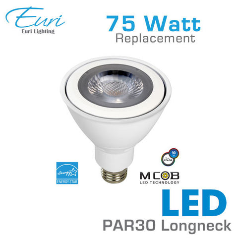Euri PAR 30 Long Neck LED - 11 Watt - 75 Watt Equal - High CRI - Dimmable - 40 Degree