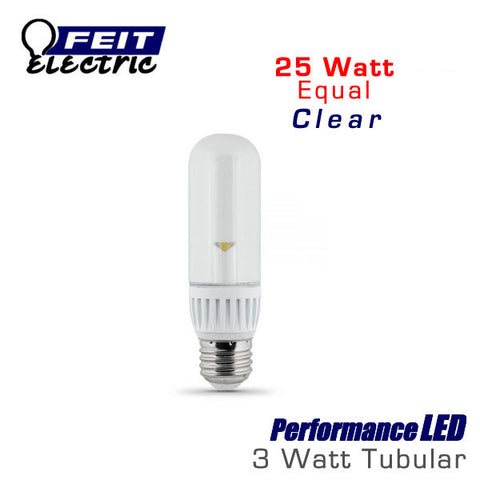 FEIT PerformanceLED T10 Picture Light Clear - 3 Watts - 200 Lumens - Warm White (3000K) - 25 Watt Equal