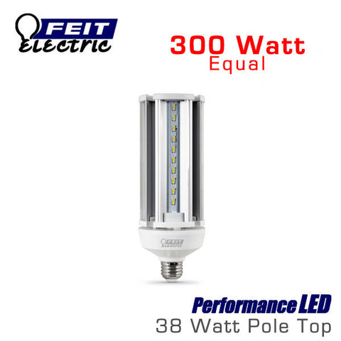 FEIT PerformanceLED Post Top Bulb - 38 Watt - 4000 Lumens - 5000K - 300 Watt Equal