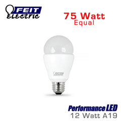 FEIT PerformanceLED A19 LED Bulb - 12 Watt - 75 Watt Equal