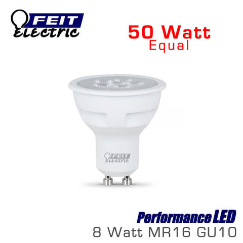 FEIT PerformanceLED MR16 GU10 - 8 Watt - 50 Watt Equal