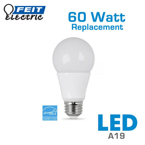 FEIT 9 Watt - 60 Watt Equal - A19 LED Light Bulb - Dimmable - Energy Star