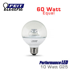 FEIT PerformanceLED G25 - 10 Watt - 60 Watt Equal