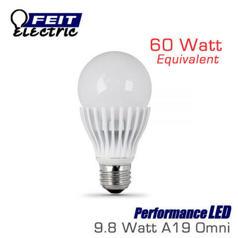FEIT PerformanceLED 9.8 Watt A19 Omni-Directional Dimmable 60 Watt Replacement