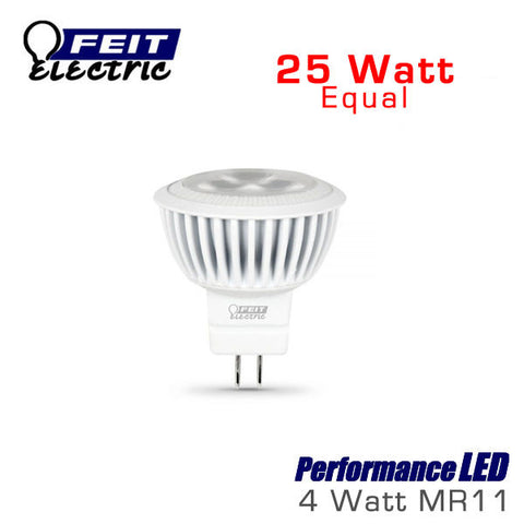 FEIT PerformanceLED MR11 - 4 Watt - 240 Lumens - 3000K - 25 Watt Equal