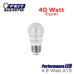 FEIT PerformanceLED A15 - 4.8 Watt - 40 Watt Equal