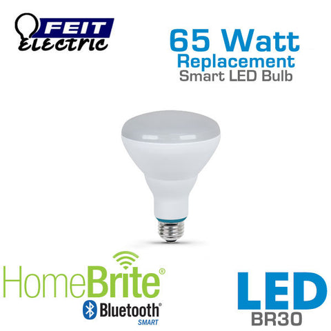 Feit Electric BR30 Bluetooth Smart HomeBrite LED Light Bulb - 9 Watts - 65 Watt Equal - Dimmable