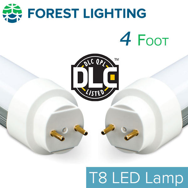 Forest Lighting 4 Foot T8 T12 Led Tube Light Replacement Dlc Qualified Earthled Com