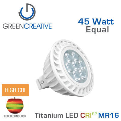 GREEN CREATIVE - CRISP - 7 Watt - MR16 - 45 Watt Equal - 95 CRI