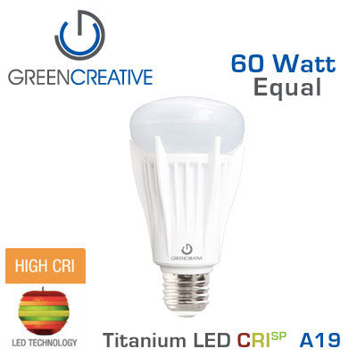 GREEN CREATIVE - CRISP - 13 Watt - A19 - 60 Watt Equal - 92 CRI