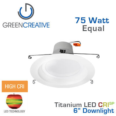 GREEN CREATIVE - CRISP - 16 Watt - Downlight - 75 Watt Equal - 92 CRI