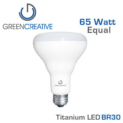 GREEN CREATIVE Titanium LED - 10 Watt - BR30 - 65 Watt Equal
