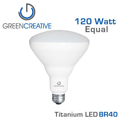 Green Creative Titanium LED - 17 Watt - BR40 - 120 Watt Equal