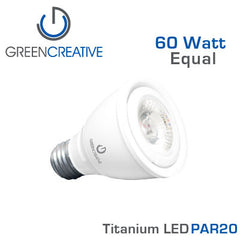 GREEN CREATIVE Titanium LED - 8 Watt - PAR20 - 60 Watt Equal