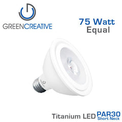 GREEN CREATIVE Titanium LED - 14.5 Watt - PAR30 Short Neck - 75 Watt Equal