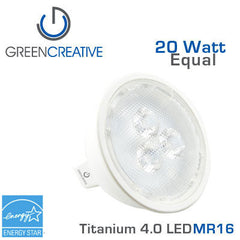 GREEN CREATIVE Titanium 4.0 LED - 4 Watt - MR16 - 20 Watt Equal
