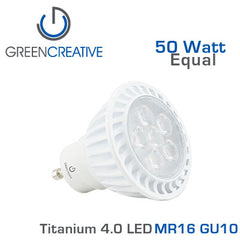 GREEN CREATIVE Titanium 4.0 LED - 6 Watt - MR16 - GU10 - 50 Watt Equal