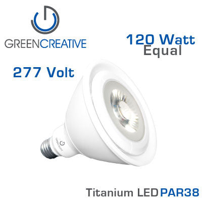 GREEN CREATIVE Titanium LED - 19 Watt - PAR38 - 277 Volt - 120 Watt Equal
