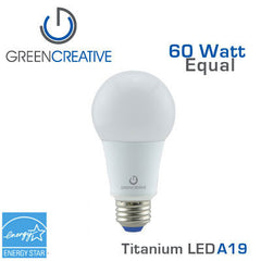 GREEN CREATIVE - Titanium - 9 Watt - A19 - 60 Watt Equal