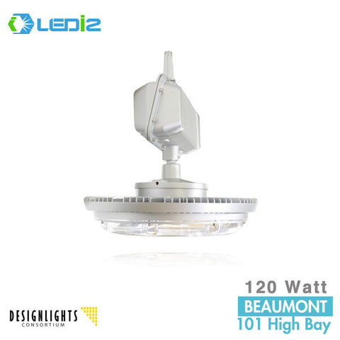 LEDi2 I2F-HB120WA-X - 120 Watt LED High Bay Fixture - 5000K - 120-277V
