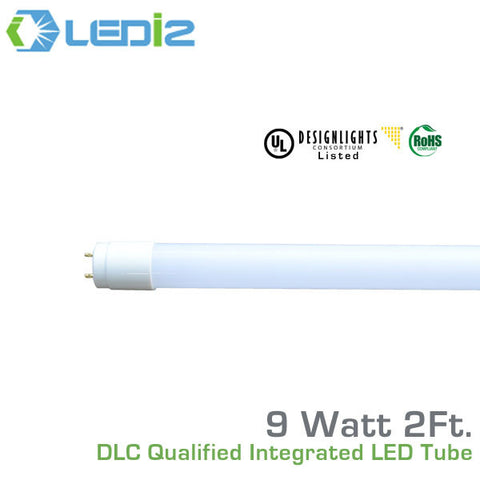LEDi2 T8 2' LED DLC Qualified Retro-Fit Integral Tube - 9 Watt - 50,000 Hours - 120-277 Volt