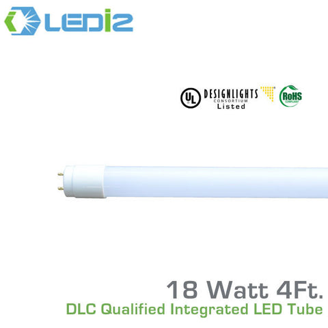 LEDi2 T8 4' LED DLC Qualified Retro-Fit Integral Tube - 18 Watt - 50,000 Hours - 120-277 Volt
