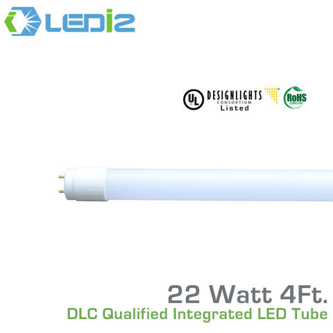 LEDi2 T8 4' LED DLC Qualified Retro-Fit Integral Tube - 22 Watt - 50,000 Hours - 120-277 Volt