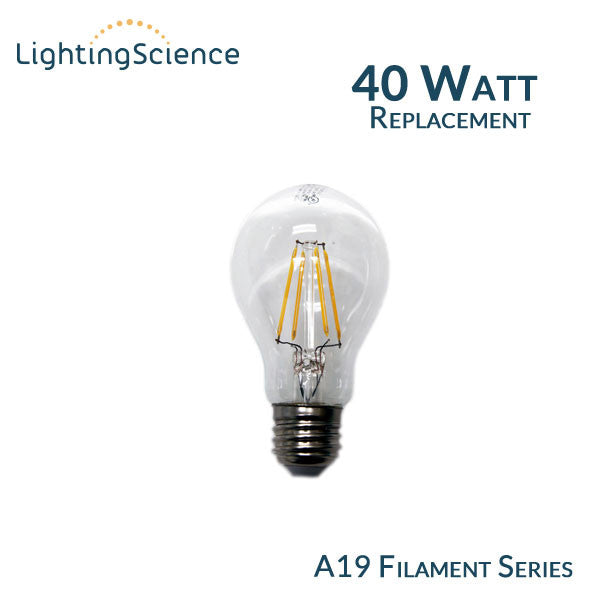 Lighting Science A19 Vintage Filament Led Bulb 40 Watt