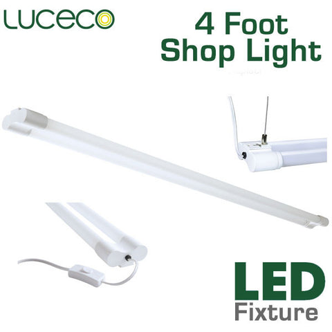 Luceco 4 Foot Led Shop Light 36 Watt 3600 Lumens
