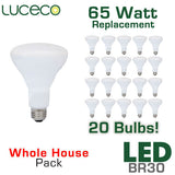 Luceco 65 Watt Equal LED BR30 Flood 20 Pack - 8 Watts - Dimmable