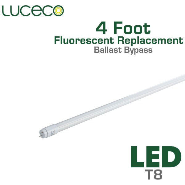 Led Fluorescent Replacement Tube 4 Ft Ballast Bypass