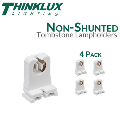 Thinklux Non-Shunted Rapid Start Tombstones for LED T8 Conversions - 4 Pack