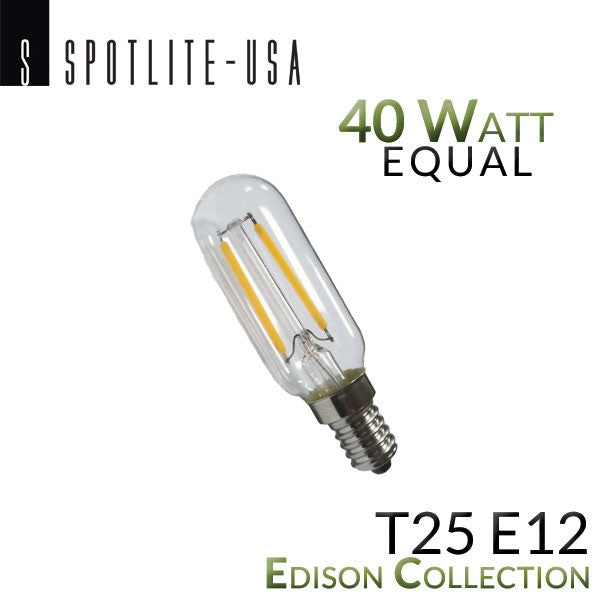 Led T25 Vintage Antique Filament Appliance Bulb 40w