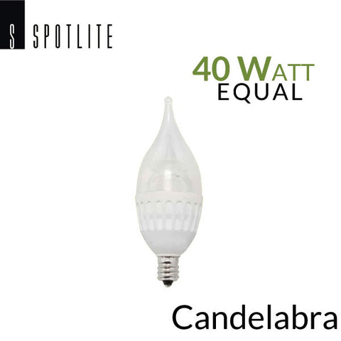 Spotlite-USA Candelabra E12 Base - 4.5 W - 40 Watt Equal