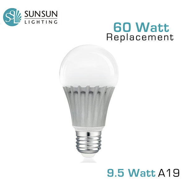 sunsun led 60 watt replacement a19 led light bulb. Black Bedroom Furniture Sets. Home Design Ideas