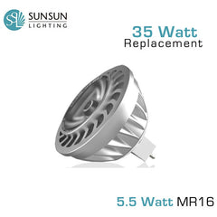 SUNSUN 5.5 Watt MR16 - 35 Watt Equal - LED Spotlight