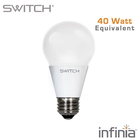 SWITCH Infinia 6 Watt - 450 Lumen - 40 Watt Equal Dimmable A19 LED