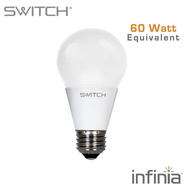 switch infinia 10 watt 800 lumen 60 watt equal dimmable a19 led. Black Bedroom Furniture Sets. Home Design Ideas
