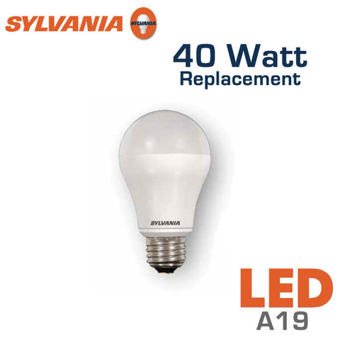led a19 bulb 40 watt equal sylvania led6a19 73016. Black Bedroom Furniture Sets. Home Design Ideas