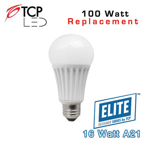 TCP Elite A21 - 16 Watt - 100 Watt Equal