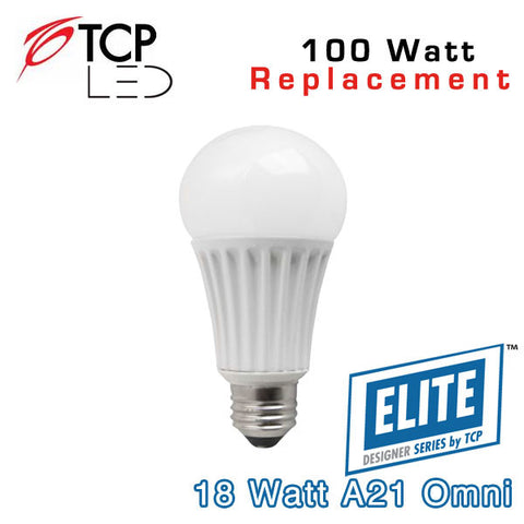 TCP Elite A21 - Omni-Directional - 18 Watt - 100 Watt Equal